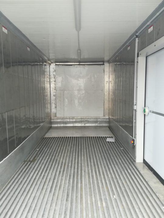 container frigo sol tole perforee