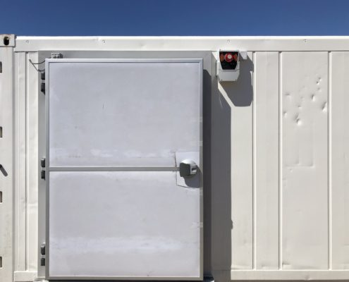 coffret alarme personne enfermée porte frigorifique
